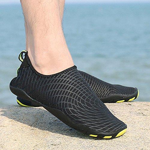 Saguaro Unisex Uomo E Donna Pelle A Piedi Nudi Quick-dry Sport Acquatici Beach Driving Yoga Aqua Shoe Nuotare Nero