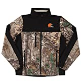 NFL Cleveland Browns Hunter Colorblocked Softshell Jacket, Real Tree Camouflage, 3X