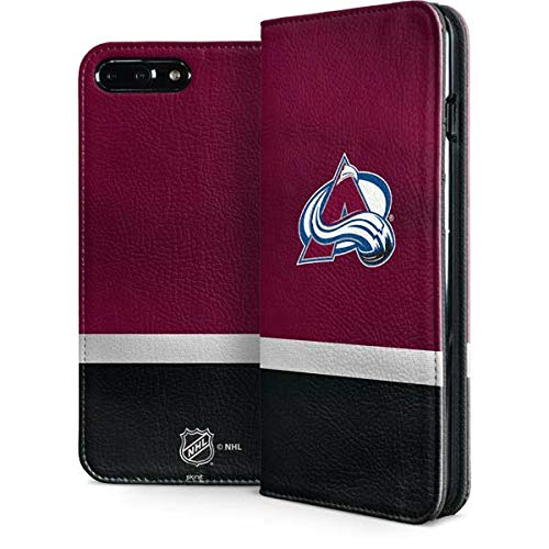 Skinit Colorado Avalanche iPhone 7 Plus Folio Case - Officially Licensed NHL Phone Case - Faux-Leather Wallet iPhone 7 Plus Cover ()