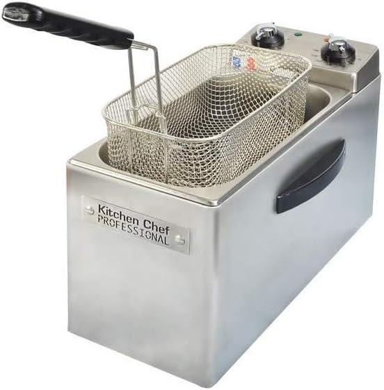 KitchenChef KCFR4L Solo Independiente 4L 2500W Acero inoxidable - Freidora (4 L, 190 °C, 30 min, Solo, Acero inoxidable, Giratorio): Amazon.es: Hogar