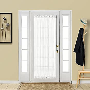 Amazon Com Aquazolax White French Door Curtain Panel