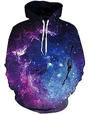 Fanient Unisex Hoodie 3D Print Lange Mouw Lichtgewicht Trui Sweatshirts Nieuwigheid Graphic Sportkleding Casual Hooded Top voor Mannen Vrouwen met Pocket