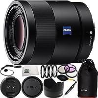 Sony 55mm F1.8 Sonnar T* FE ZA Full Frame Prime Lens Bundle 15PC Accessory Kit. Includes Manufacturer Accessories + 3PC Kit (UV-CPL-FLD) + 4PC Macro Set (+1,+2,+4,+10) + Dust Blower + Lens Pen +  Microfiber Cleaning Cloth