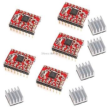Controlador de paso A4988 + disipador de calor para impresora 3D ...