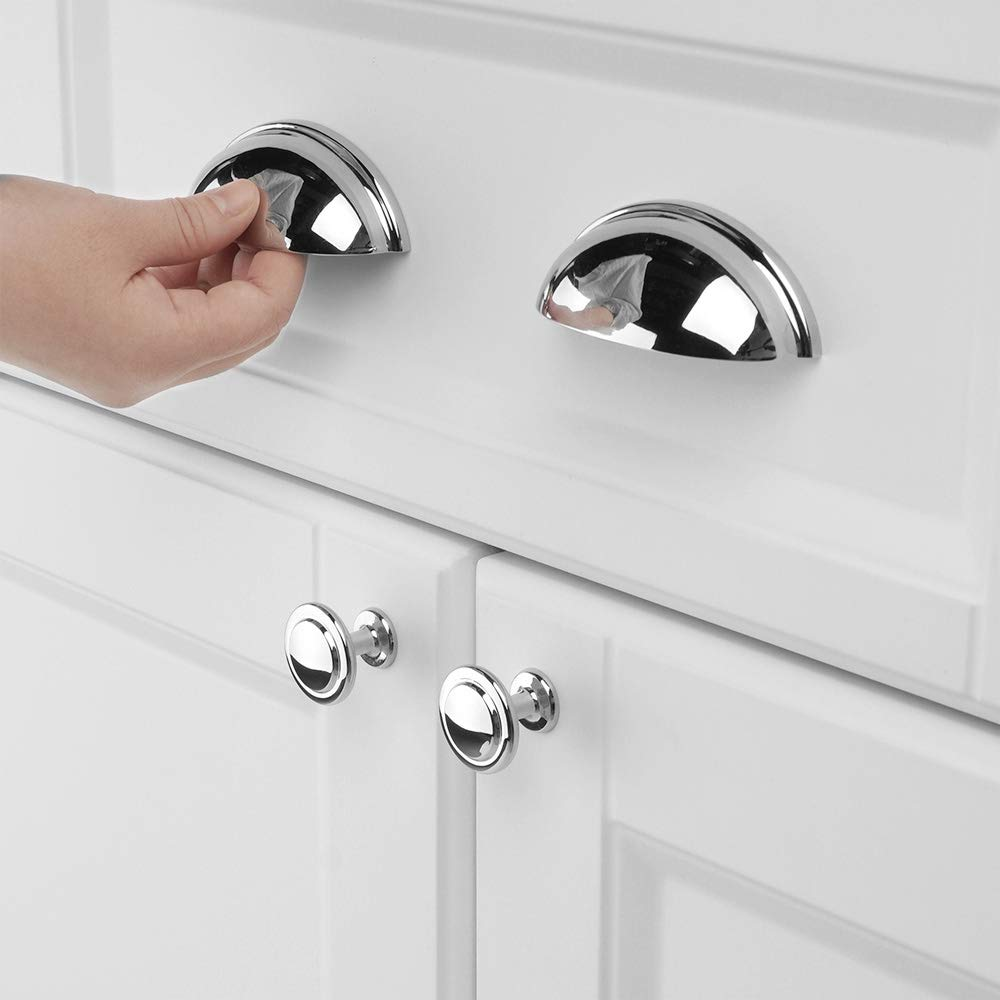 3 Inch 76mm Hole Centers 4389CH 10 Pack 10 Pack Cosmas 4389CH Polished Chrome Modern Cabinet Hardware Handle Pull