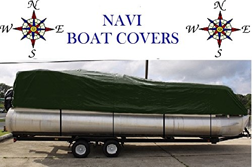 NAVI 20′ – 22′ GREEN MARINE CANVAS PONTOON BOAT COVER