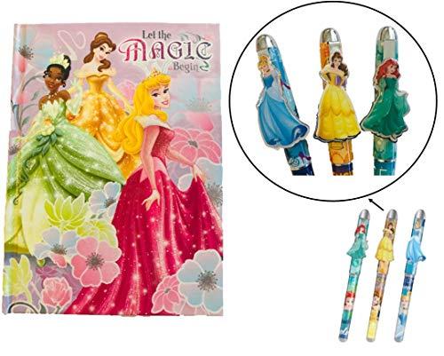 Magical Memories Collection Disney Princess Stationery Set- Journal and 3 Pens (Princess)