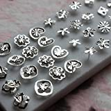 20 Pairs of 925 Sterling Silver Women