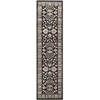 Safavieh Persian Garden Collection PEG610F Traditional Black and Brown Viscose Runner (22 x 8)