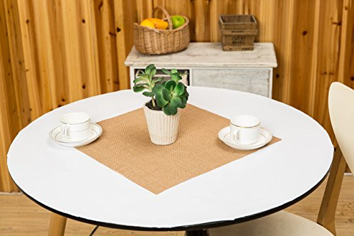 10 Piece Table Overlays Close Edged Center Piece Square Burlap Table Topper Center Perceptible Overlays, Burlap Placemats 16