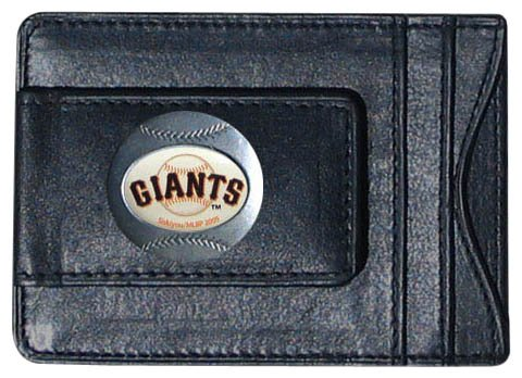 MLB San Francisco Giants Leather Cash and Card Holder - Giants Mlb Leather