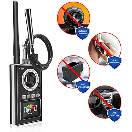 Hidden Camera Bug Detector,[ K99 Upgraded 2021 Newest] Anti Spy Detector with LCD, RF Signal Wireless GPS car Tracker Eavesdropping Device Finder with Extra AI Function, GSM,MIYORI Indi