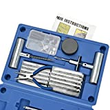 BETOOLL Heavy Duty Tire Repair Kit - 67Pc Set For Motorcycle, ATV, Jeep, Truck, Tractor Flat Tire Puncture Repair