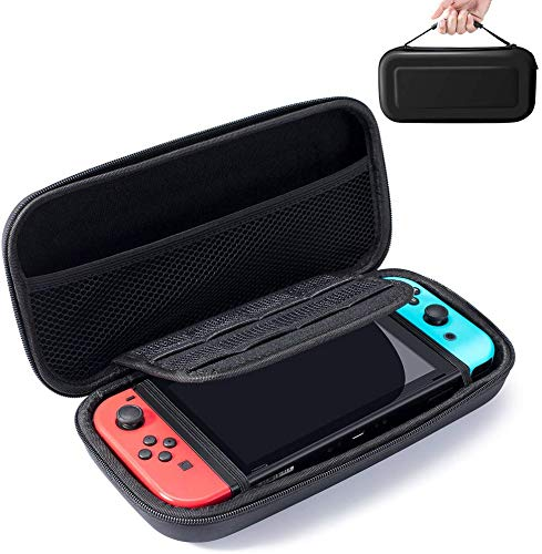 Snowpink Switch Carrying Case Compatible with Nintendo Switch - 8 Game Cartridges Protective Hard Portable Travel Carry Case Shell Pouch Compatible Nintendo Switch Console & Accessories, Black
