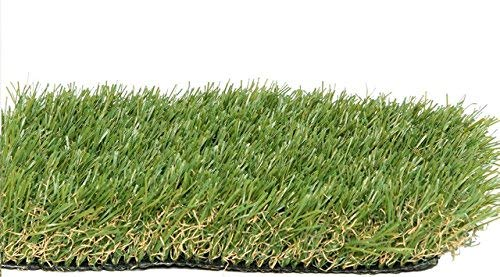 "PZG Premium Artificial Grass Patch w/ Drainage Holes & Rubber Backing | 4-Tone Realistic Synthetic Grass Mat | 1.6-inch Blade Height  | Lead-Free Fake Grass for Dogs or Outdoor Decor | Size: 40"" x 28"""