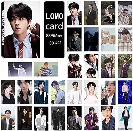 Zhenzhiao 30pcs Kpop Bts Carte de The Soul 7 Papier Lomo Carte Bangtan Gar/çons HD Carte Photo Collective Carte pour Fans Jungkook