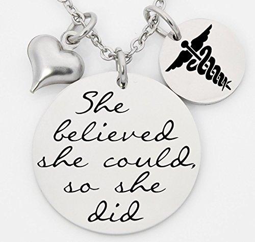 CNA Heart Necklace (Silver) - 1