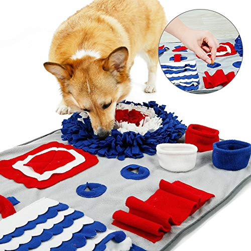 Livelynine Durable Dog Snuffle Mat Treat Puzzle Toys for Dog Smell Training