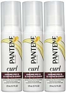 Pantene Pro-V Curl Scrunching Spray Hair Gel 5.7 Oz (Pack of 3)