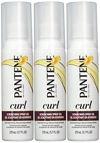Pantene Pro-V Curl Scrunching Spray Hair Gel 5.7 Oz (Pack of 3) by Pantene