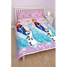 Disney Frozen Magic UK Double/US Twin Duvet Cover and Pillowcase Set