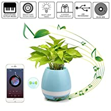 UGI® Intelligent Indoor Decorative Smart Music Flower-pots Stand Outdoor Plant Lamp LED Bluetooth Speakers Multi-color Light - Blue