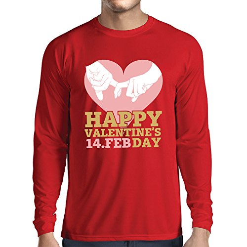 Long Sleeve t Shirt Men Happy Saint Valentine