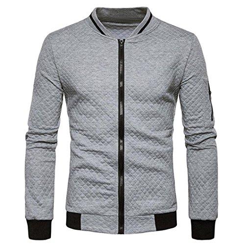sudadera Gris escocesa cremallera chaqueta invierno rebeca OverDose chaquetas hombre xn860AA