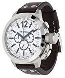 TW Steel Men's CE1008 CEO Canteen Brown Leather White Chronograph Dial Watch