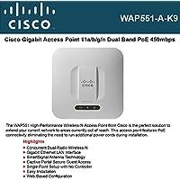 Cisco Small Business WAP551-A-K9 Wireless access point, 802.11 a/b/g/n, 450 Mbps