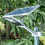 SHANGBOYI 20W LED Solar Street Light , 1200 Lumens Post Light Waterproof IP65 Solar Sensor Street Light for Street, Garden, Driveway , Walkway (Silvery Grey)