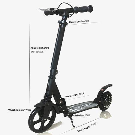 Patinetes clásicos Scooter Ajustable para Adultos con Rueda ...