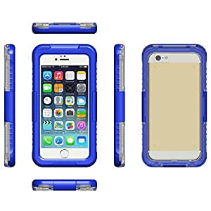 """Emarket Durable Shockproof Waterproof Cover Case Pouch For Apple Iphone 6 4.7"""" Blue Color"""