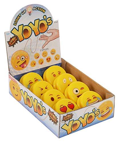 Kangaroo Emoji Universe: Emoji Faces Light Up Yo-Yos (8-Pack); YoYo Collection
