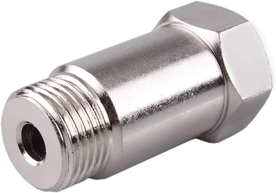 45mm// 1.77inch O2 Oxygen Sensor Mounting Boss Fitting Bung Accessories Straight Threaded M18 x 1.5,Pack 2