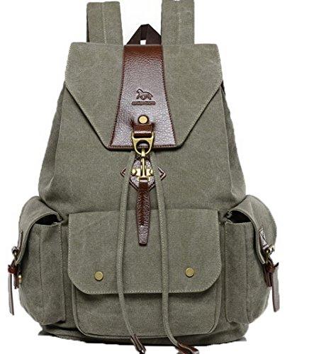 Zaini Voguezone009 Escursionismo Donna Shopping Tela Verde Daypacks Moda Daypack 6qYPx61