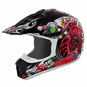Thh negro joker tx12 casco de Motocross