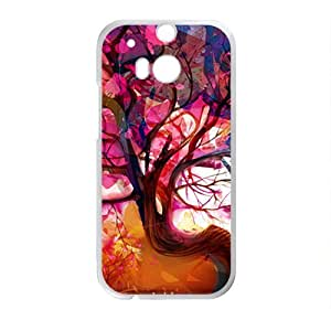 Abstract colorful tree oil painting Phone Case for HTC One M8