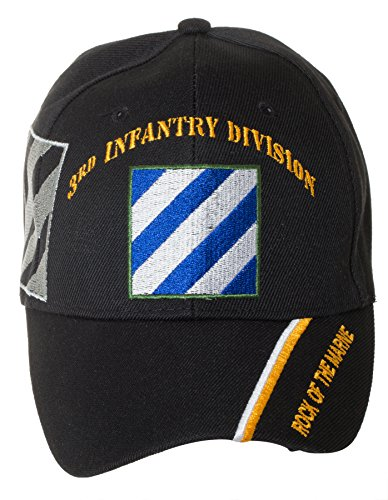 Us 3rd Infantry Division - Officially Licensed US Army Infantry Division Black Embroidered Baseball Cap - Multiple Divisions Available! (3rd Infantry)