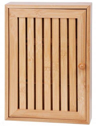 Caja de bambú - Con 8 ganchos - armario de llaves - Llavero ...