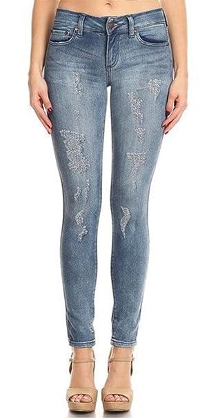 7e0023474db97 Monotiques Women s Mid Rise Skinny Jeans  Amazon.ca  Clothing ...