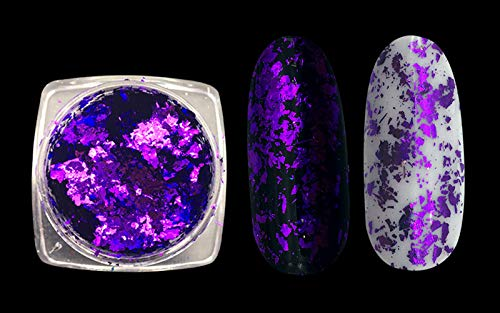 1 Box Nail Art Glitter Aluminum Flakes Mirror Effect Nail Powders Irregular Sequins Chrome Pigment Nail Decoration 8