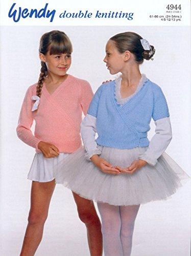 Wendy Girls Crossover Ballet Cardigan Merino Knitting Pattern 4944