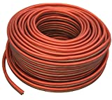 Absolute USA SWS16R50 Professional Premium Speaker Wire 16 Ga 50' - Clear Red and Brown