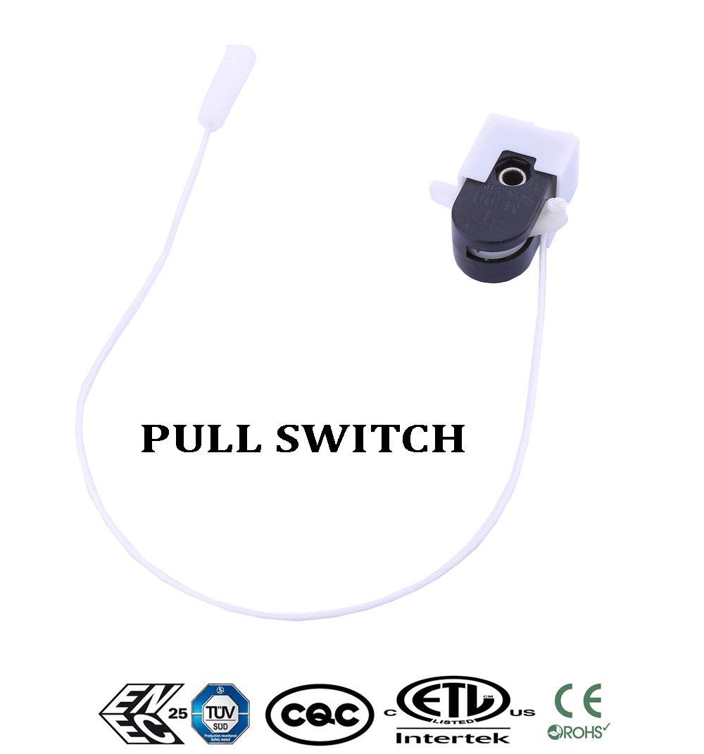 1x Universal Deckenventilator Wandleuchte Ersatz Pull Chain Cord Switch Control