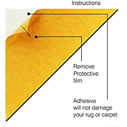 Stay Put Rug Gripper Keeps your rug, rug pad or carpet padding flat Stops Rug Corner Curling Perfect for Area Rugs