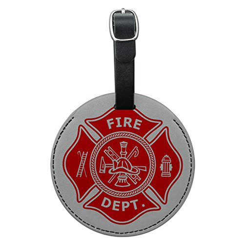 Firefighter Firemen Maltese Leather Suitcase