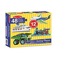 Melissa & Doug Going Places Vehicles Floor Puzzles (4 puzzles, 12 pcs each)