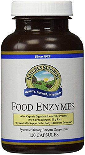 Nature's Sunshine Food Enzymes, 120 Capsules | Digestive Enzymes with Betaine HCL Support the Digestive System and Provide Occasional Indigestion ()