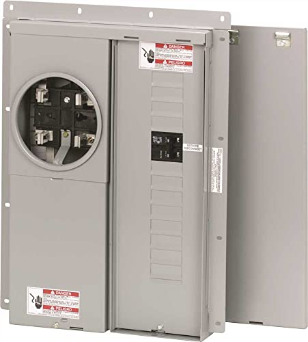 Eaton Mbe1224B100Bts Br Outdoor Main Breaker Meter and Panel House Combo, 100 Amp, 12 to 24 Circuits